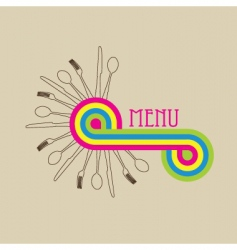 menu cover vector image