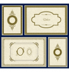 parchment frames vector image vector image