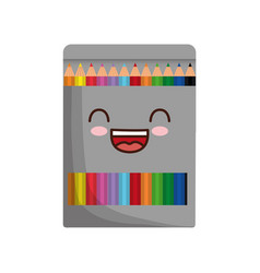Pencil colors box icon vector