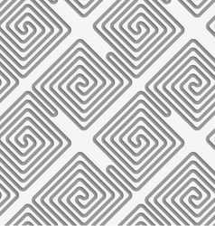 Perforated square diagonal spirals vector image vector image