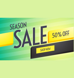 Season sale discount voucher design with vector