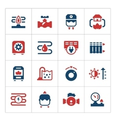 Set color icons of heating vector