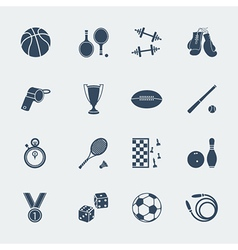 Sports equipments of flat design vector image