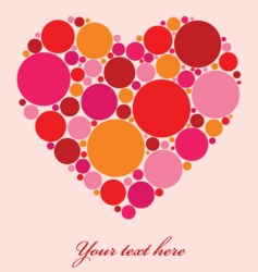 spotty heart vector image vector image