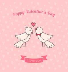 Sweet birds couple vector