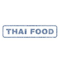 Thai food textile stamp vector