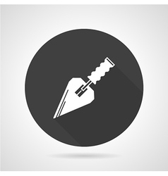 Trowel black round icon vector image