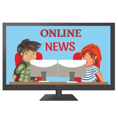 tv news anchors vector image