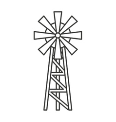 farm windmill drawing. Windmill Farm Isolated Icon Vector Image Drawing