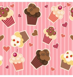 seamless cake pattern vector image