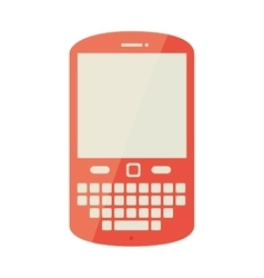 Cellphone phone buttons icon vector