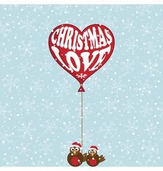 christmas love vector image
