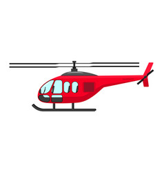 A cartoon helicopter vector