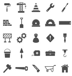 Construction icons on white background vector