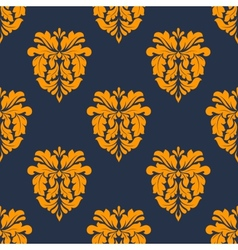 Colorful yellow arabesque seamless pattern vector image