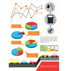 Infographics of the vehicles vector