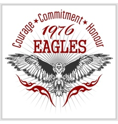 Vintage label Eagle - Retro emblem vector image