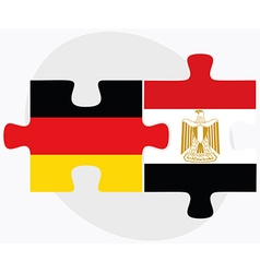 Germany and egypt flags vector