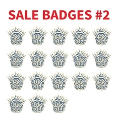 Set of Huge sale badges vector image