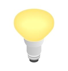 Light bulb icon isometric 3d style vector