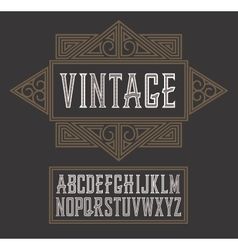 Vintage label font modern style whiskey vector