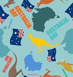 Australia day seamless pattern festive backdrop vector