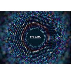 Big data information concept abstract vector