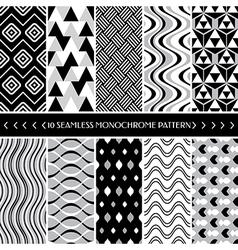 Geometric seamless patterns vector