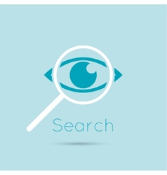 Icon eyes with a magnifying glass vector image