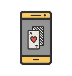 Phone gambling vector