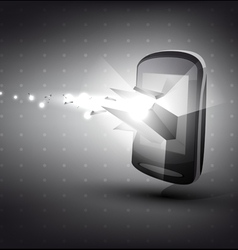 phone in 3D with light effect vector image