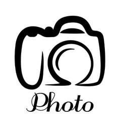 Photo camera emblem vector image vector image
