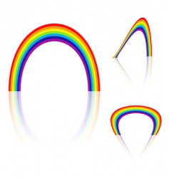 rainbow angle vector image vector image