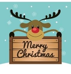 Reindeer cartoon of christmas season design vector