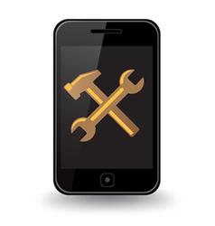 Smart phone repair vector