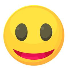 Smiley icon cartoon style vector