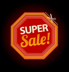 stop symbol super sale sticker vector image vector image