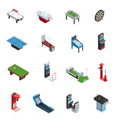 table games game machine icon set vector image vector image