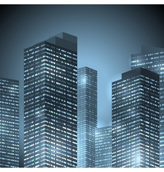 city front night vector image