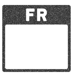 Friday calendar page grainy texture icon vector