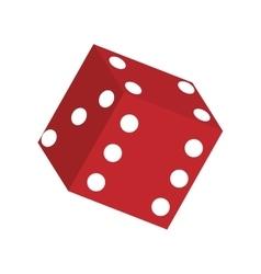 Casino dice concept vector