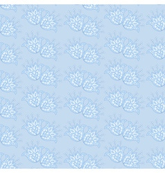 Blue floral lace pattern vector image