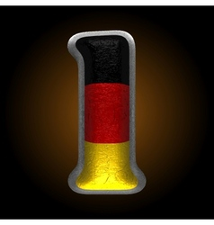 Germany metal figure 1 vector