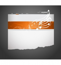Musical website template vector