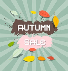 Retro autumn sale background vector