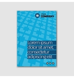 Blue business design with headline and pattern vector