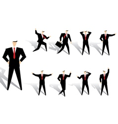Business man action vector