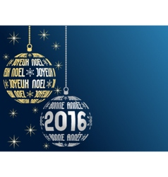 French merry christmas and happy new year 2016 vector