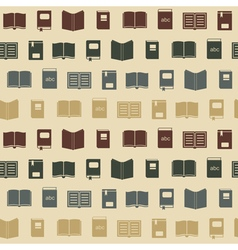 Seamless background with books vector