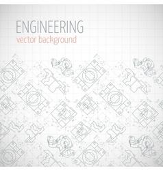 Poster cover banner background with technical vector